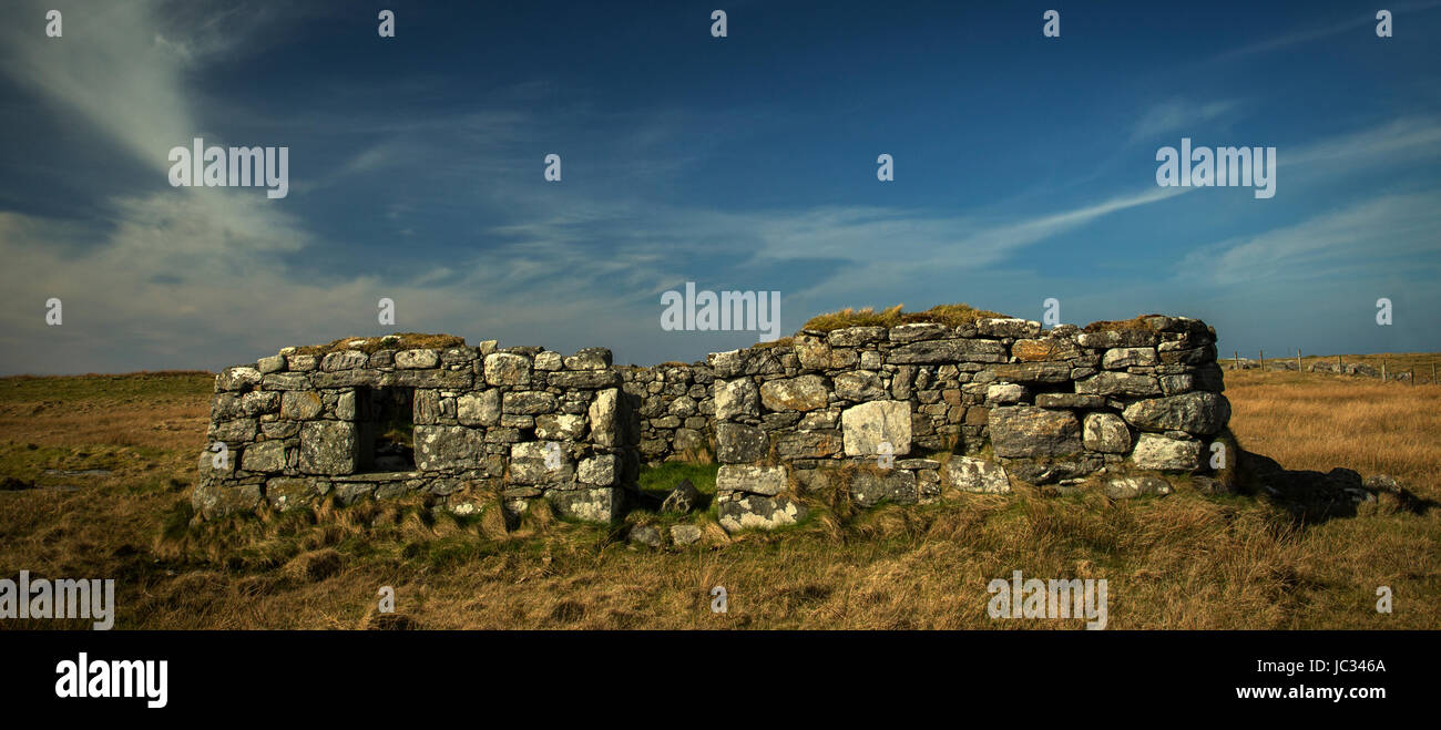 Deserted Blackhouse - Isle of South Uist, Outer Hebrides - Stock Image