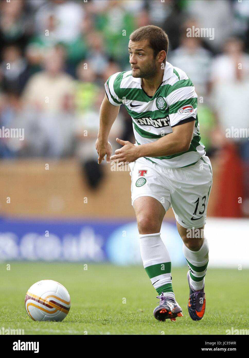 SHAUN MALONEY GLASGOW CELTIC FC GLASGOW CELTIC FC FIR PARK MOTHERWELL SCOTLAND 29 August 2010 Stock Photo