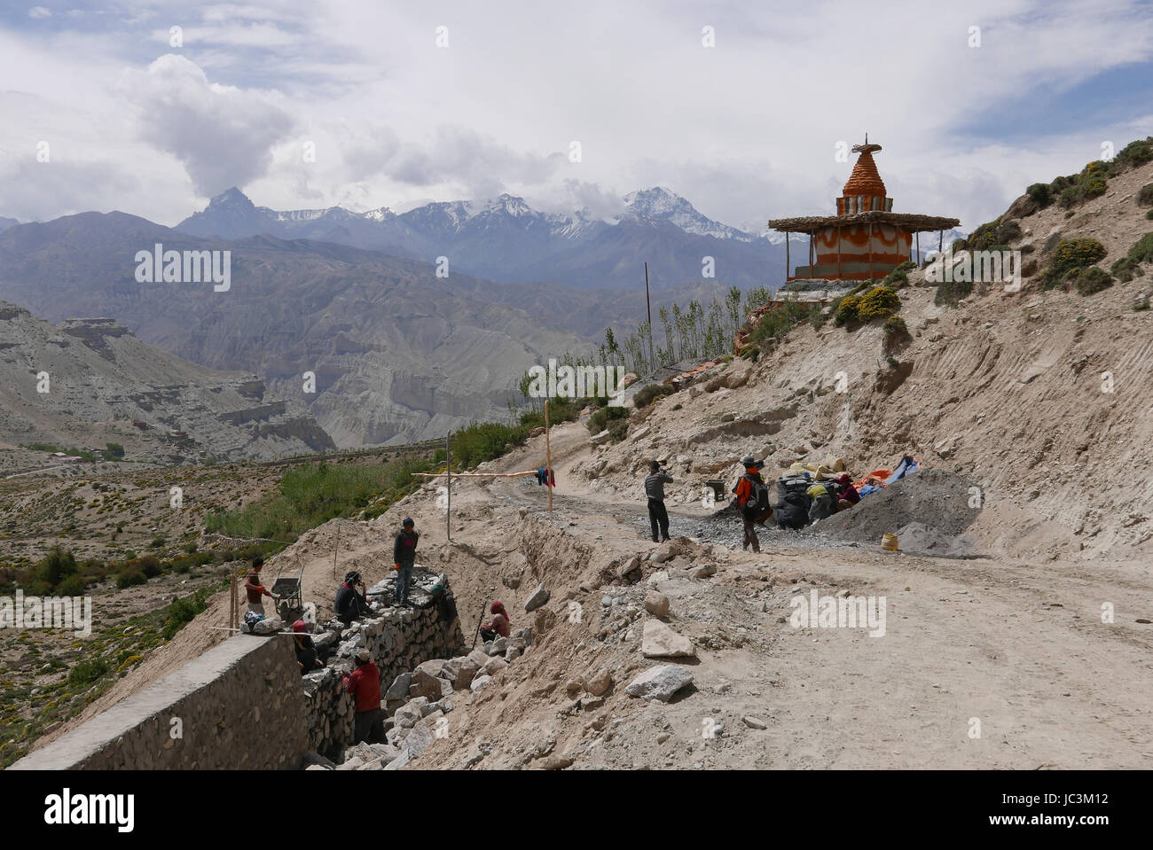 The chinese are building a road through Mustang to link up through India, it will disrupt trekking!! Stock Photo