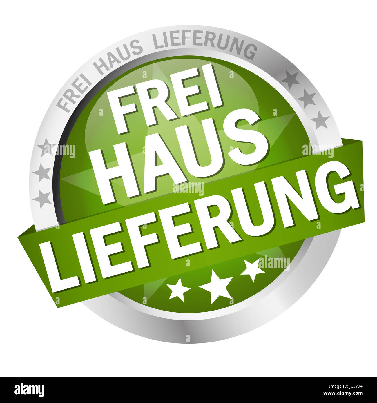 vector of button - Frei Haus Lieferung Stock Photo