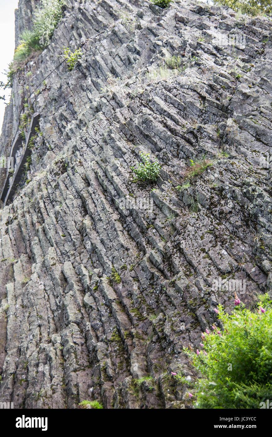 rectangular prism basalt - Stock Image