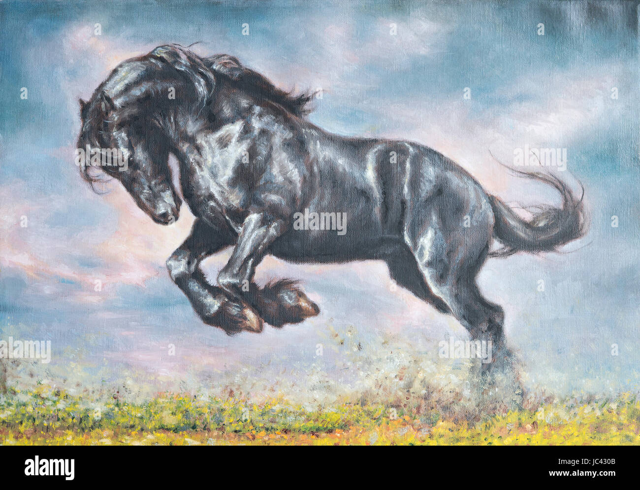 Canvas Oil Painting Horse Paint High Resolution Stock Photography And Images Alamy