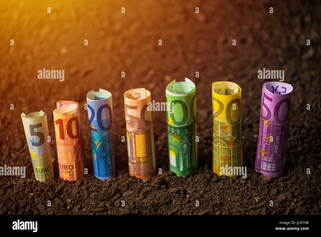 Euro funds for agriculture, financing of agricultural expenditure Stock Photo