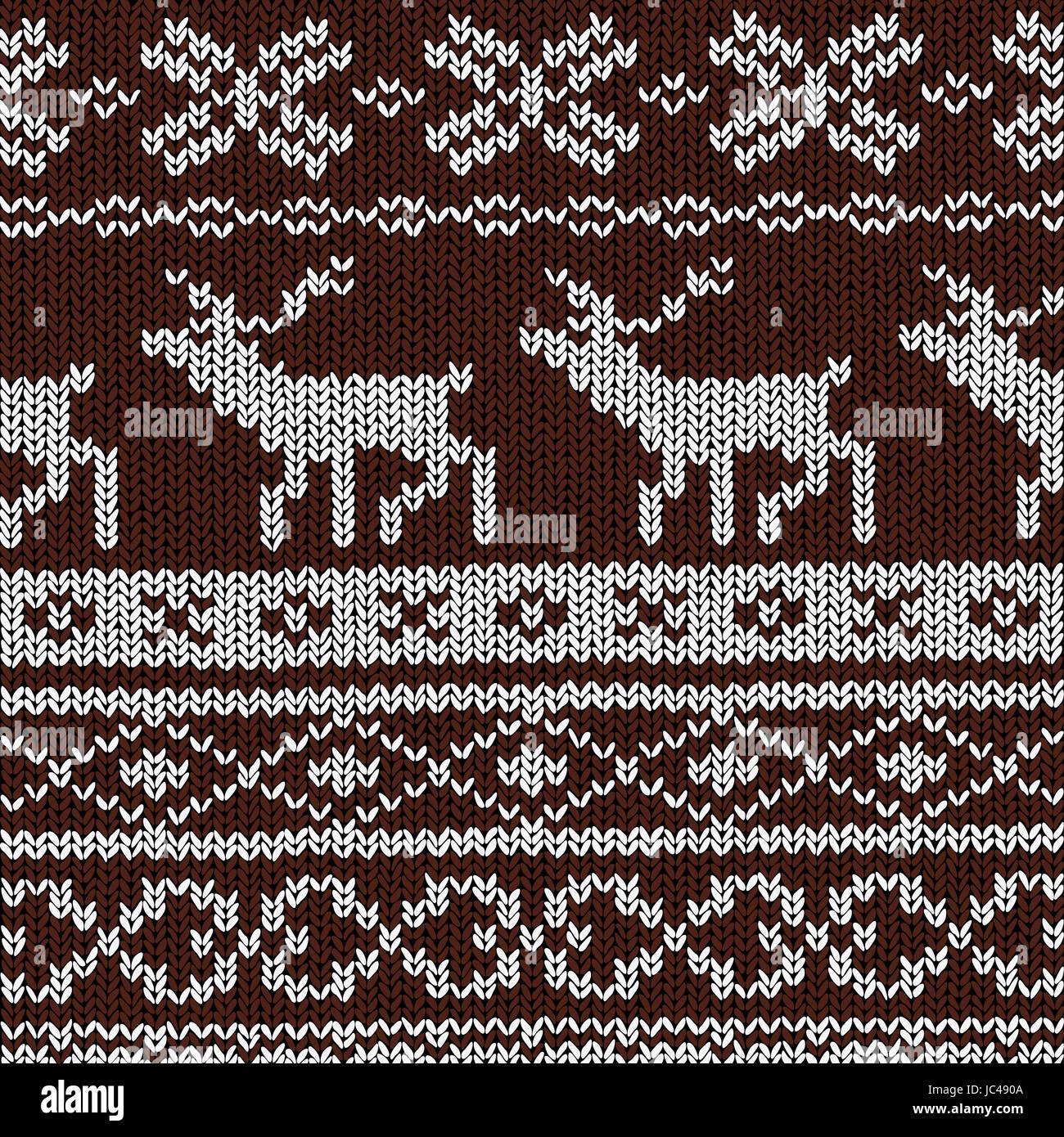 Norwegian Knitting Patterns Stock Photo Alamy