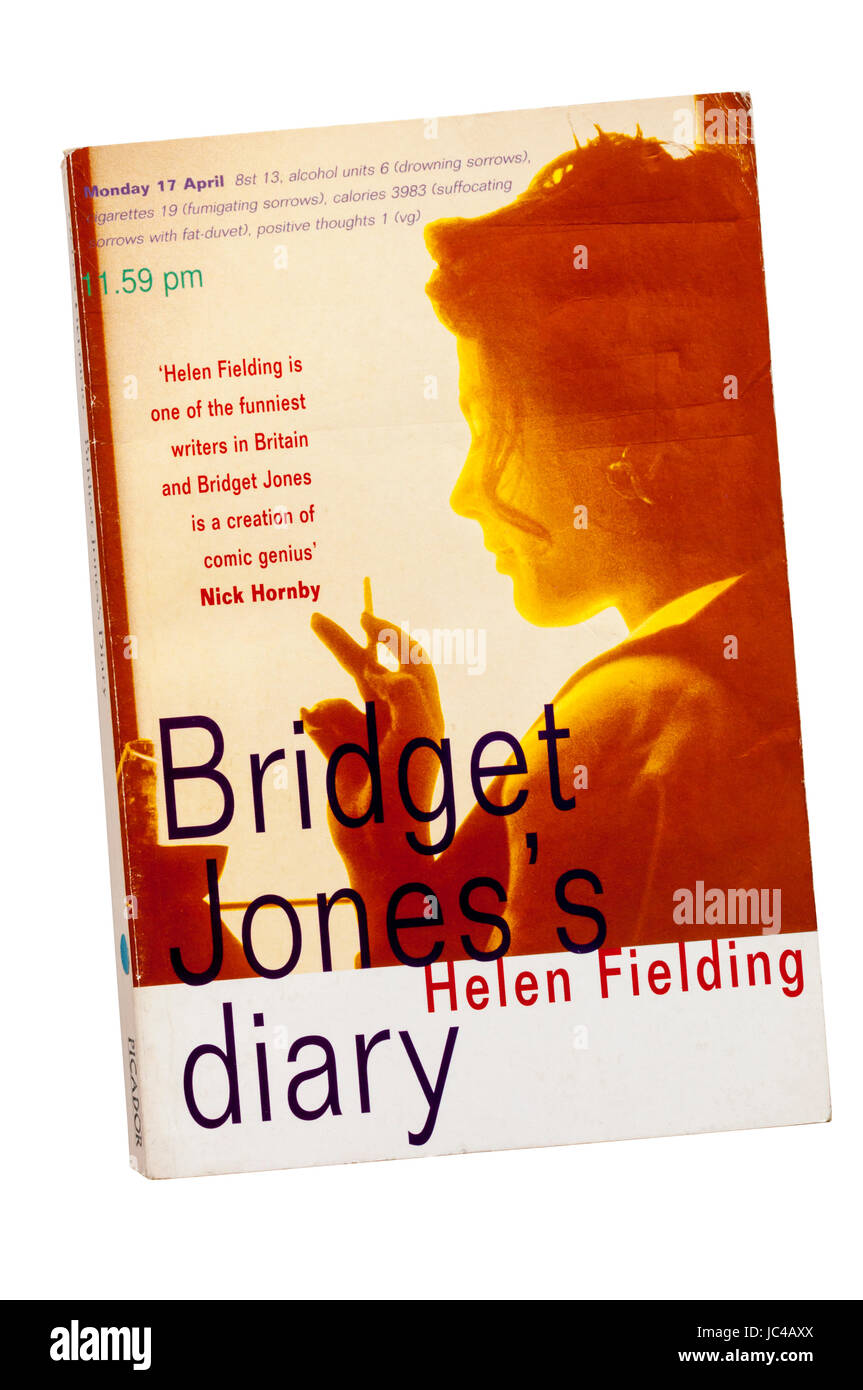 A paperback copy of Bridget Jones's Diary by Helen Fielding.  First published in 1996. - Stock Image