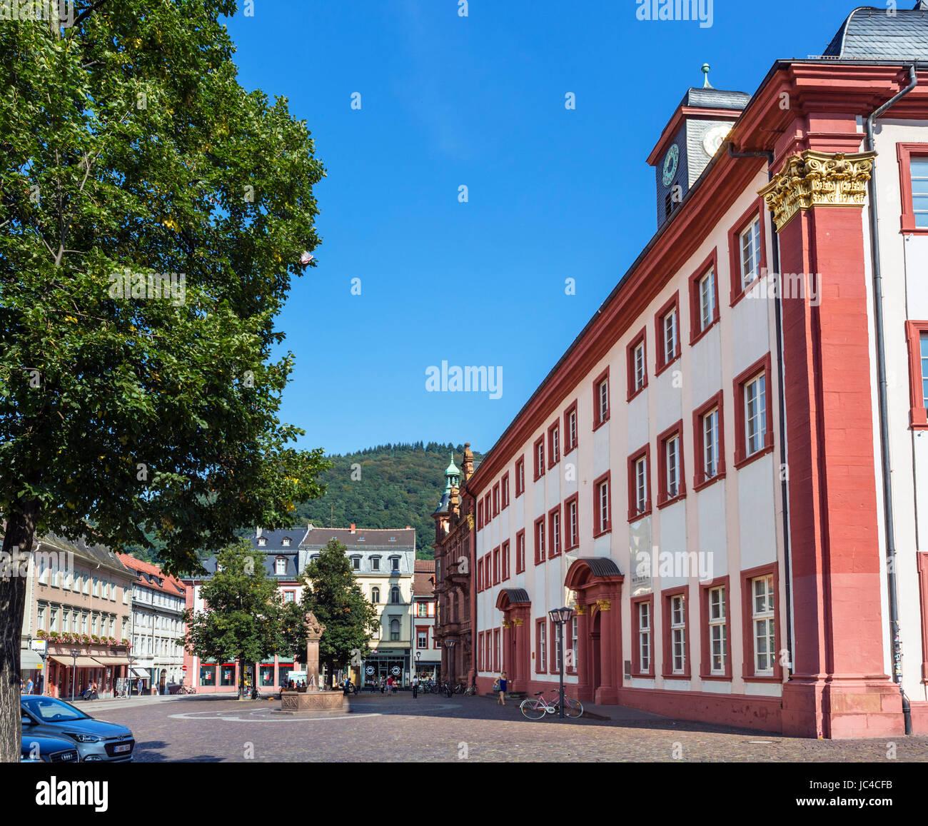 Heidelberg University (Ruprecht-Karls-Universität Heidelberg). The old University building on Universitätsplatz, - Stock Image