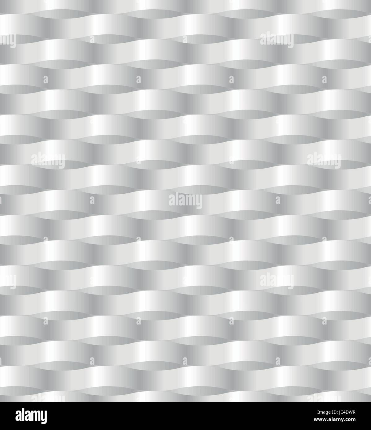 Paper waving wickerwork network abstract three dimensional pattern seamless in gray - white color. Vector illustration - Stock Vector
