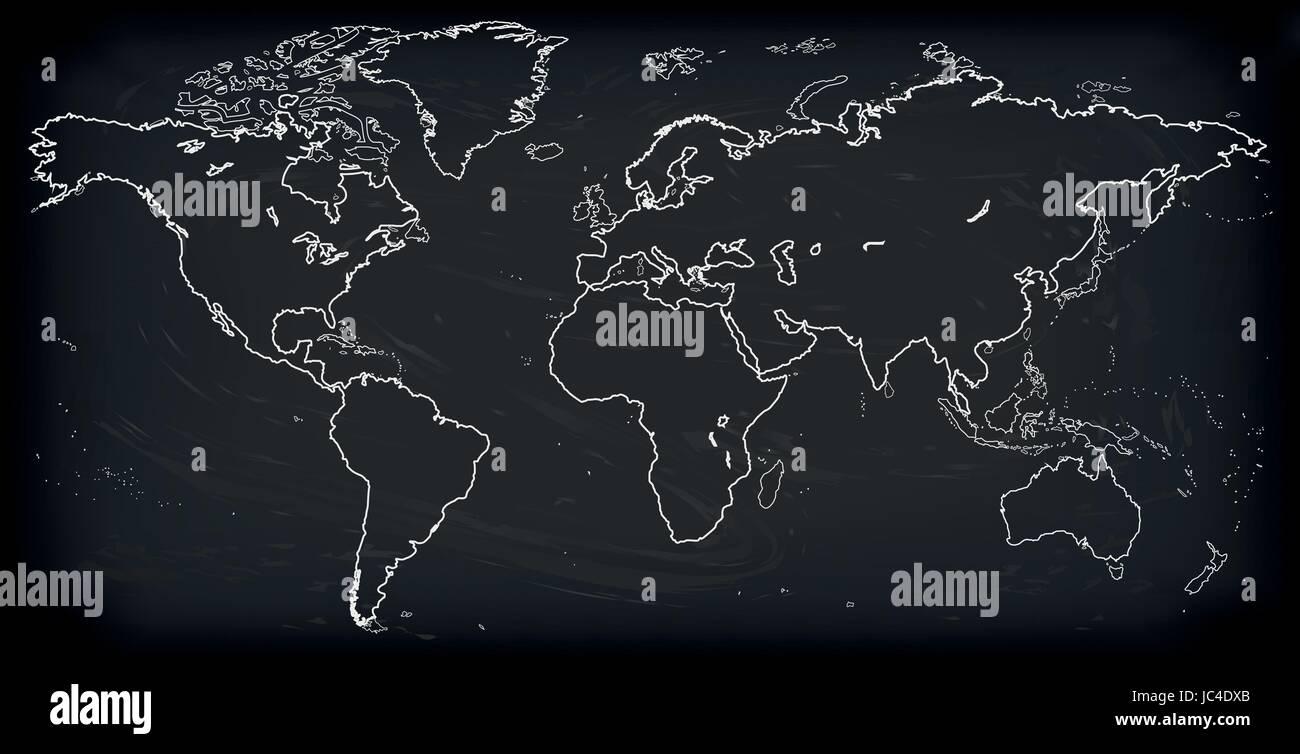 Vector blank dark grey black similar world map isolated on white vector blank dark grey black similar world map isolated on white background monochrome worldmap template website design cover annual reports infog gumiabroncs Images