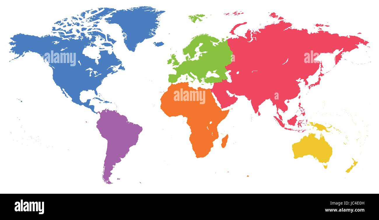 vector bright similar world map isolated on white background colorful red blue green worldmap template website design cover reports