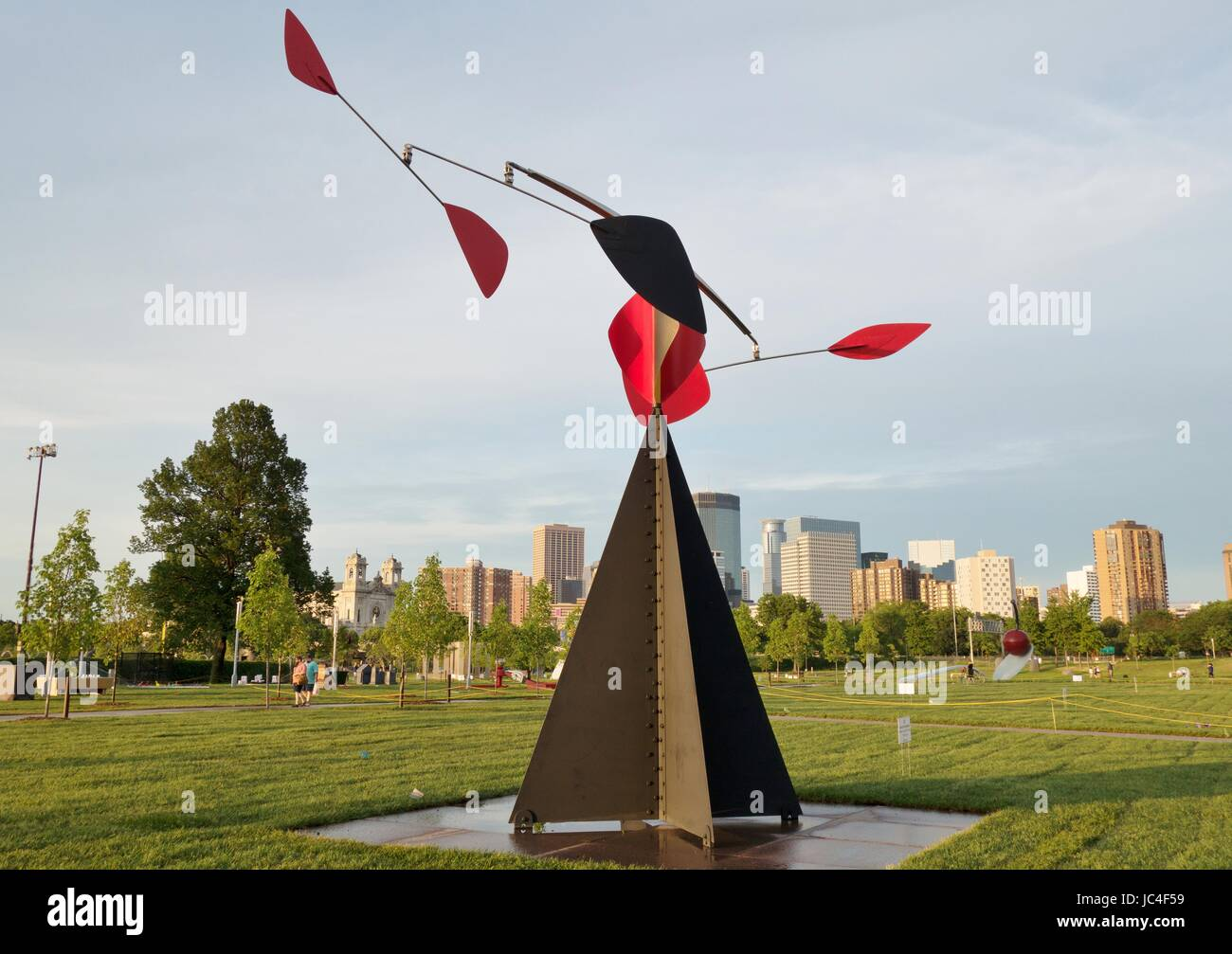 'The Spinner' by Alexander Calder, a modern abstract sculpture at the Walker Sculpture Garden in Minneapolis, - Stock Image