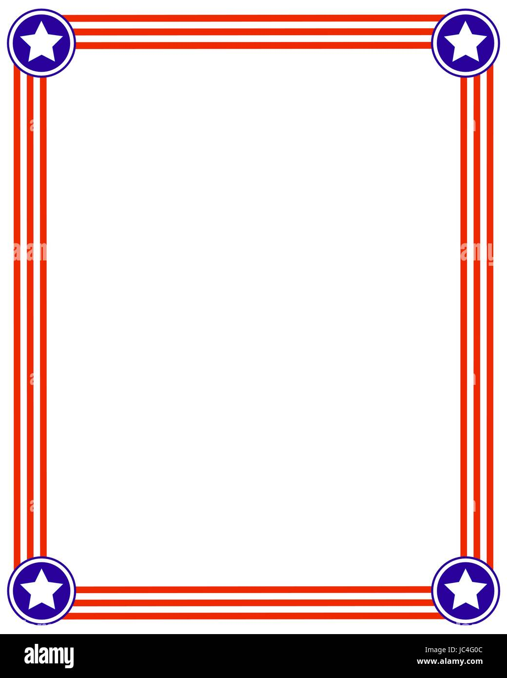 frame usa flag background with stars design template american flag