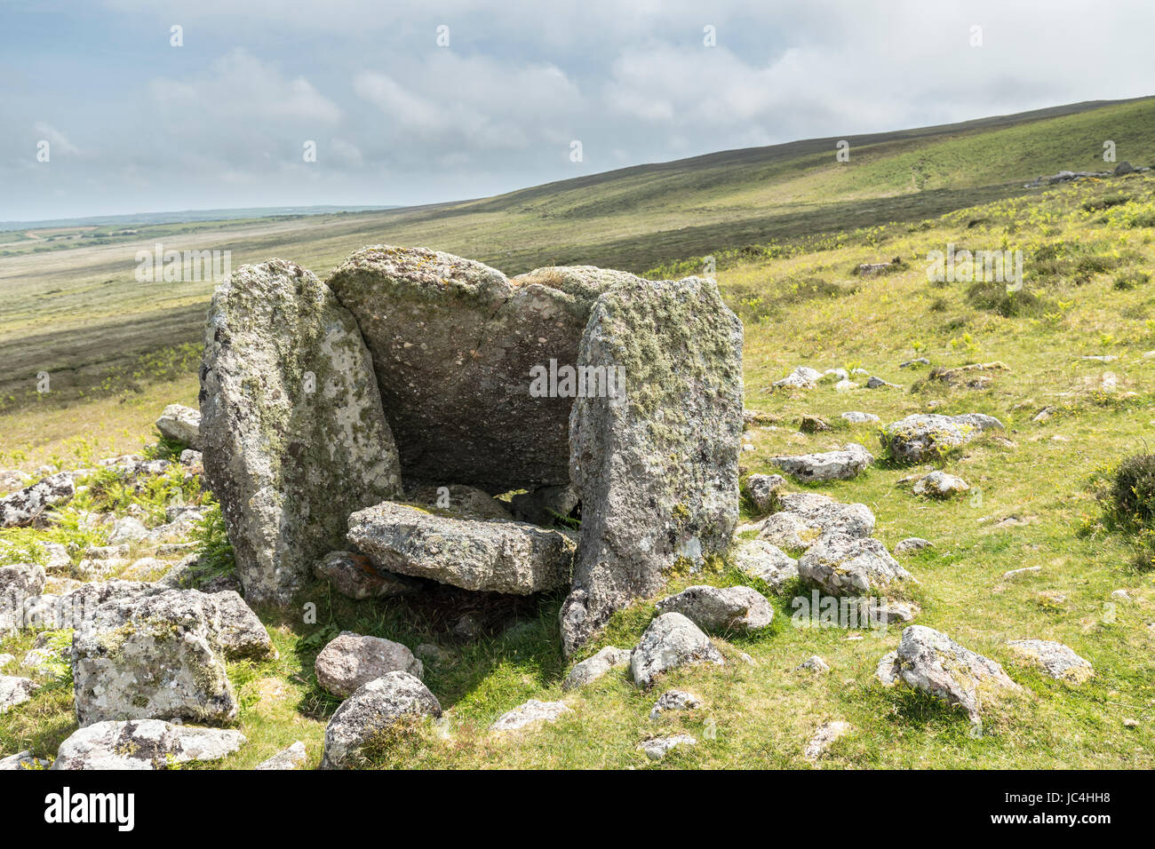 Sweyne's Howes, prehistoric burial chamber, Gower, Wales, UK - Stock Image