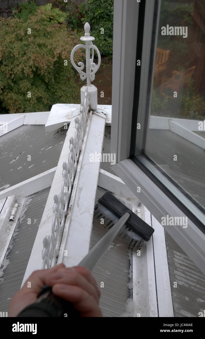 window cleaning - Stock Image