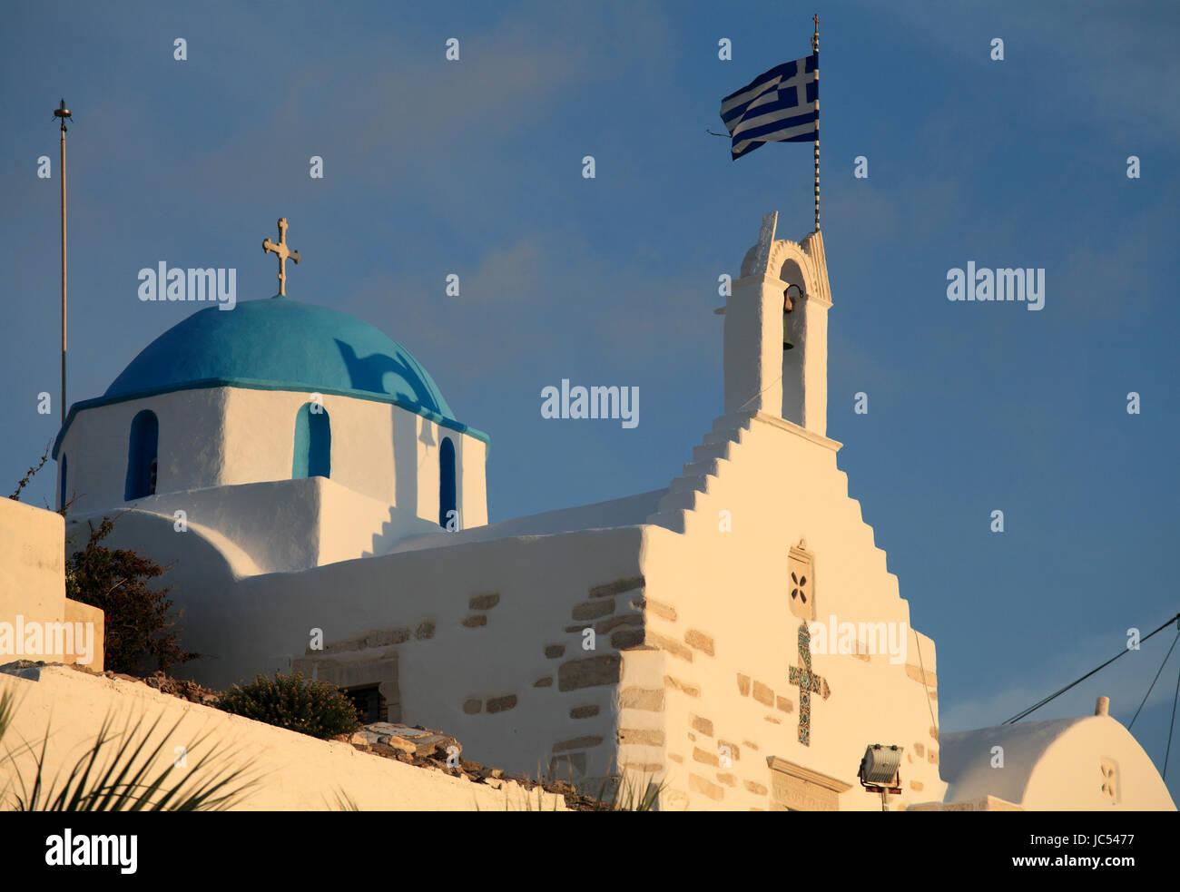 Greece, Cyclades, Paros, Parikia, Agios Konstantinos Church, - Stock Image