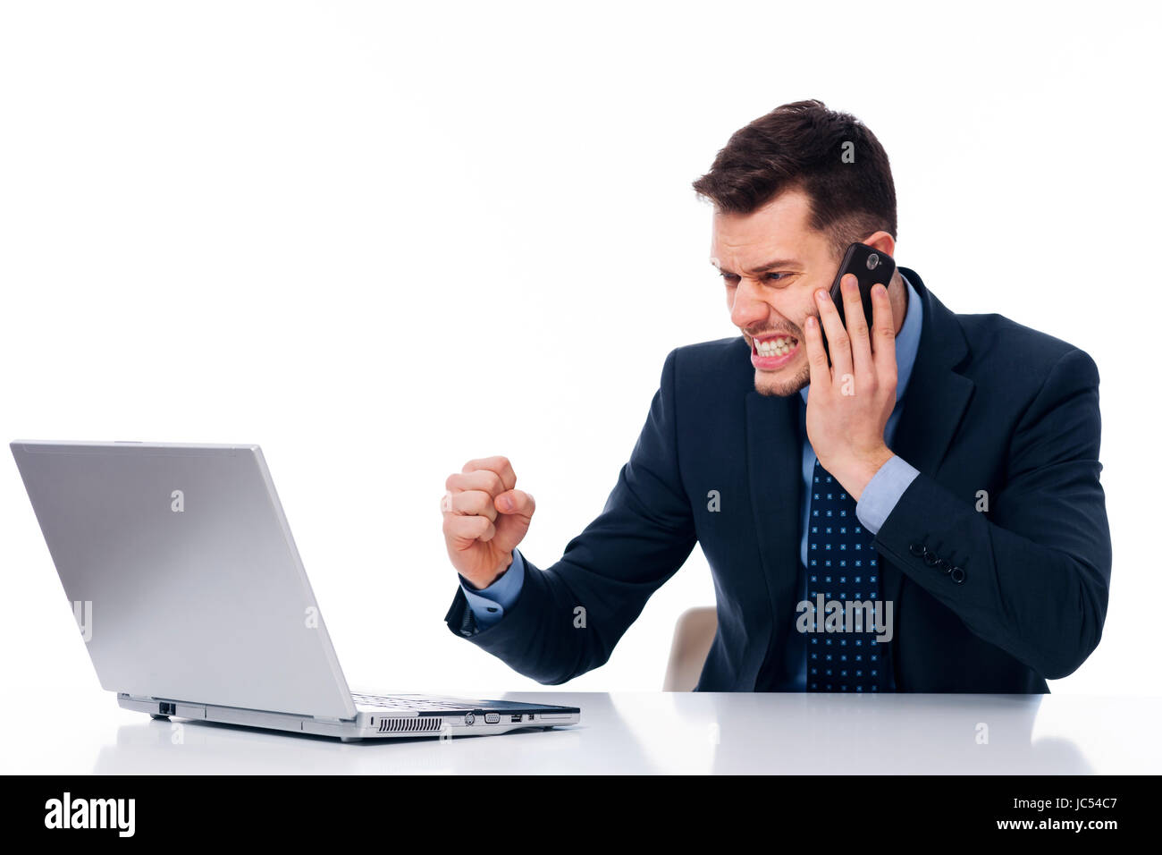 Stressful work in the office - Stock Image