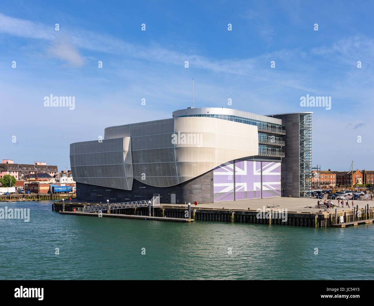 Ben Ainslie Racing HQ, Portsmouth, Hampshire, UK - Stock Image