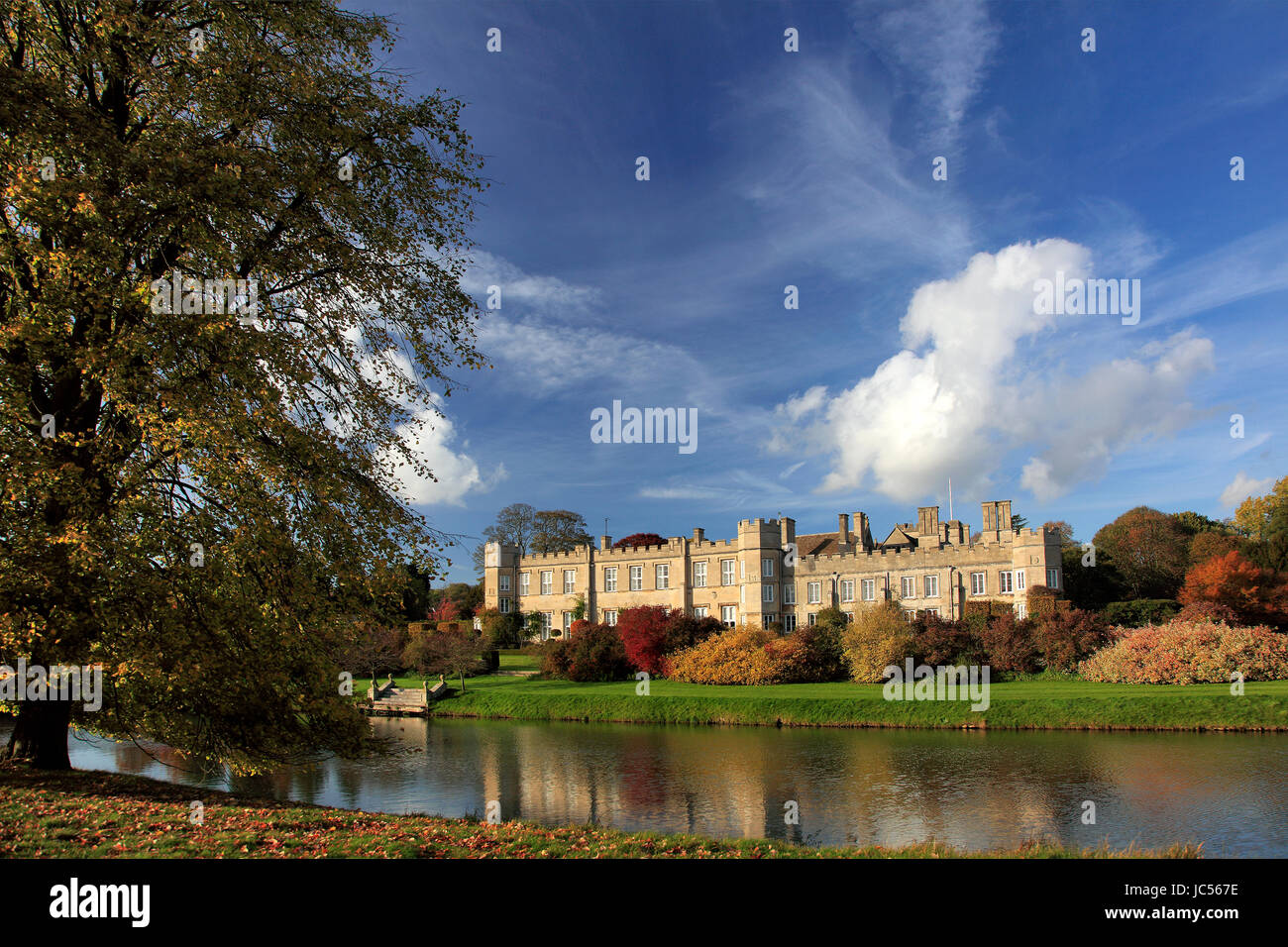 The house at Deene Park the seat of the Brudenell family since 1514, near Corby, Northamptonshire county, England - Stock Image