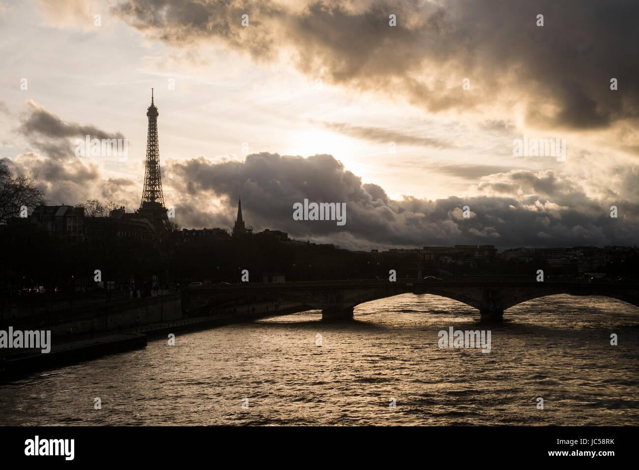 tramonto parigino - Stock Image