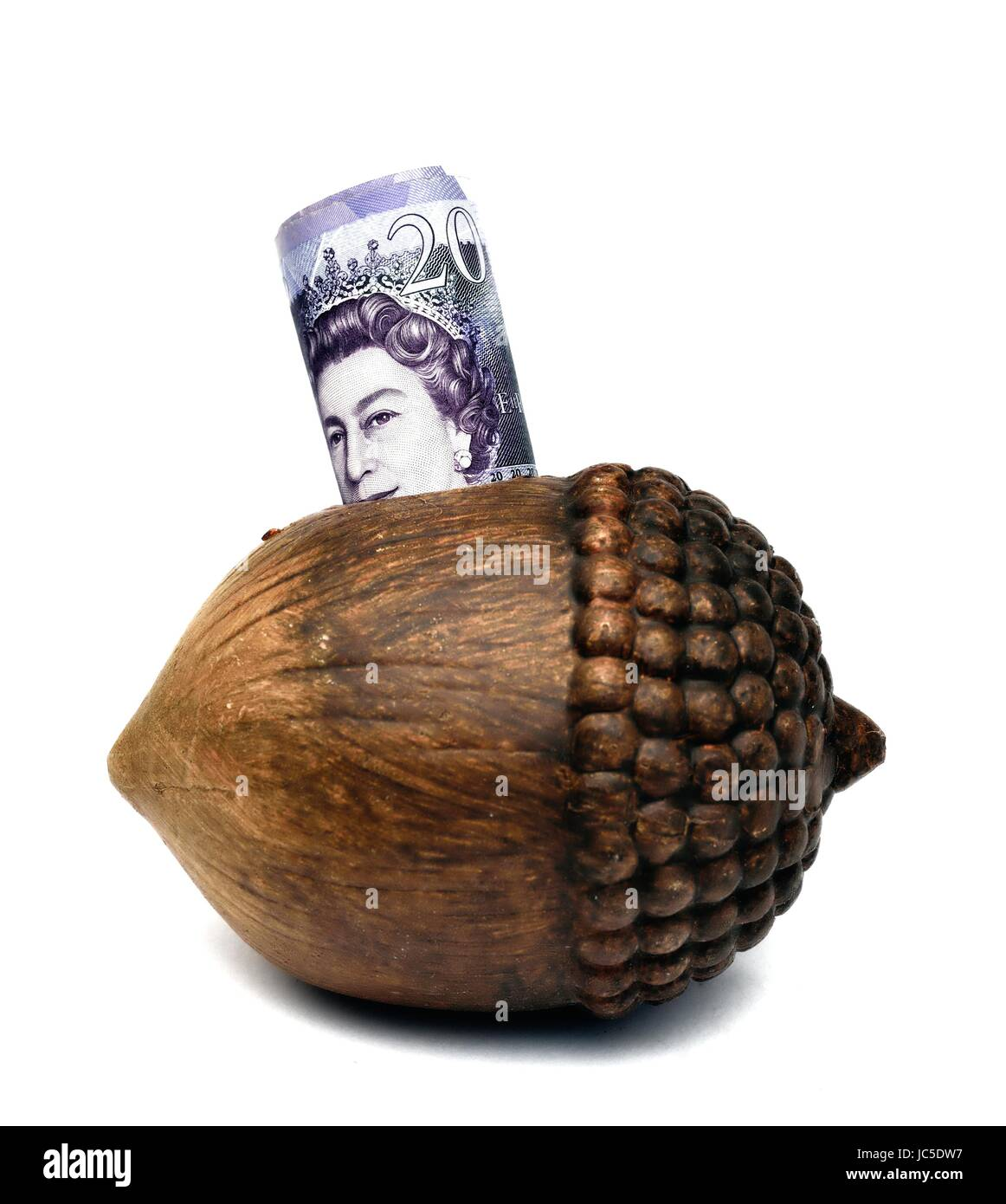 20 pound note - Stock Image