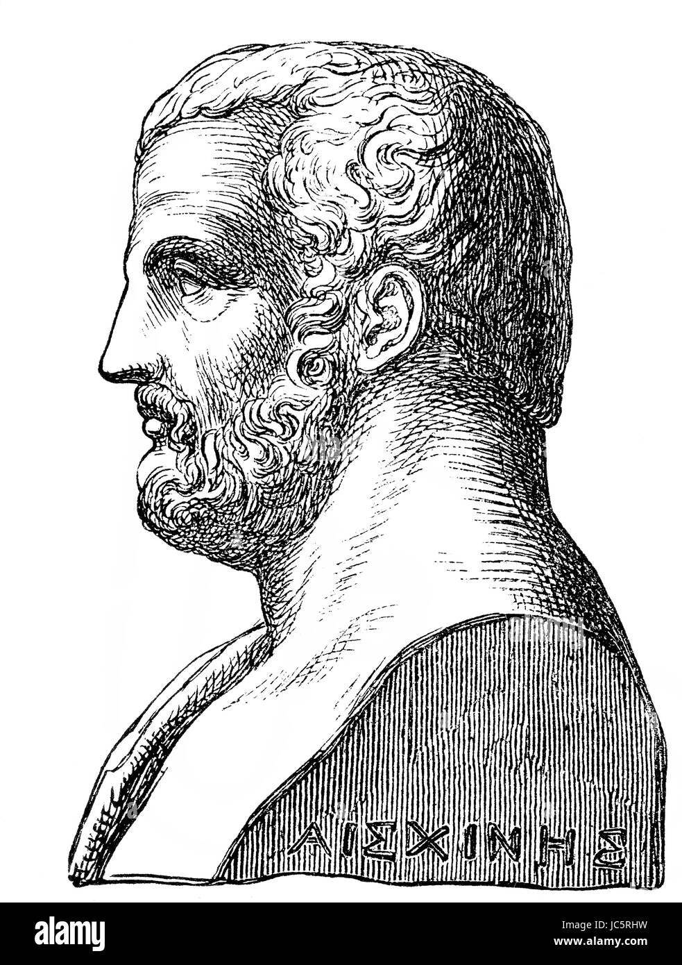 Aeschines, 389-314 BC, a Greek statesman and orator of ancient Athens - Stock Image
