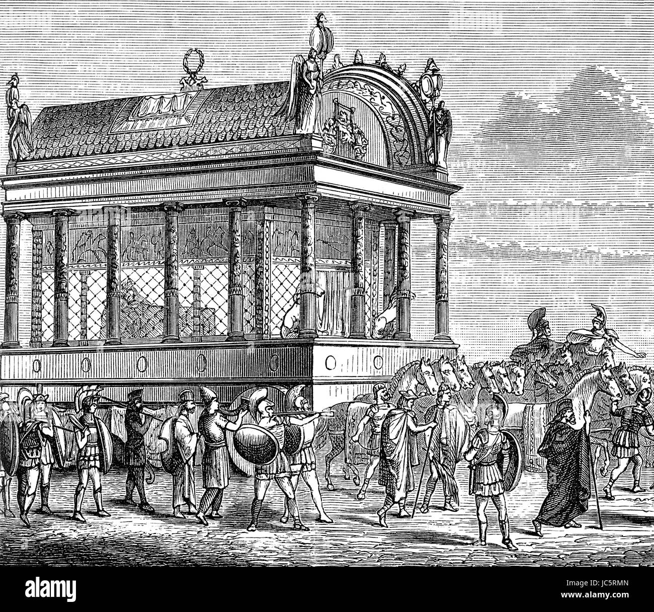 The funeral procession of Alexander the Great - Stock Image
