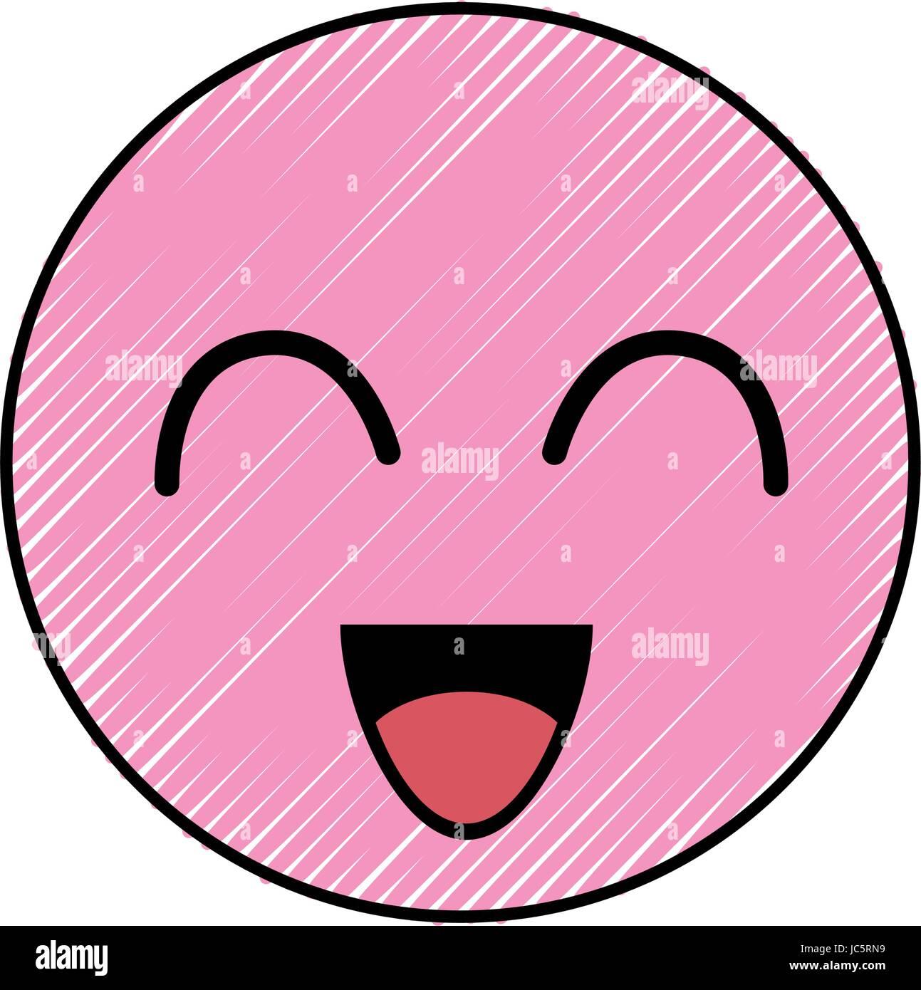 cute cartoon face - Stock Vector