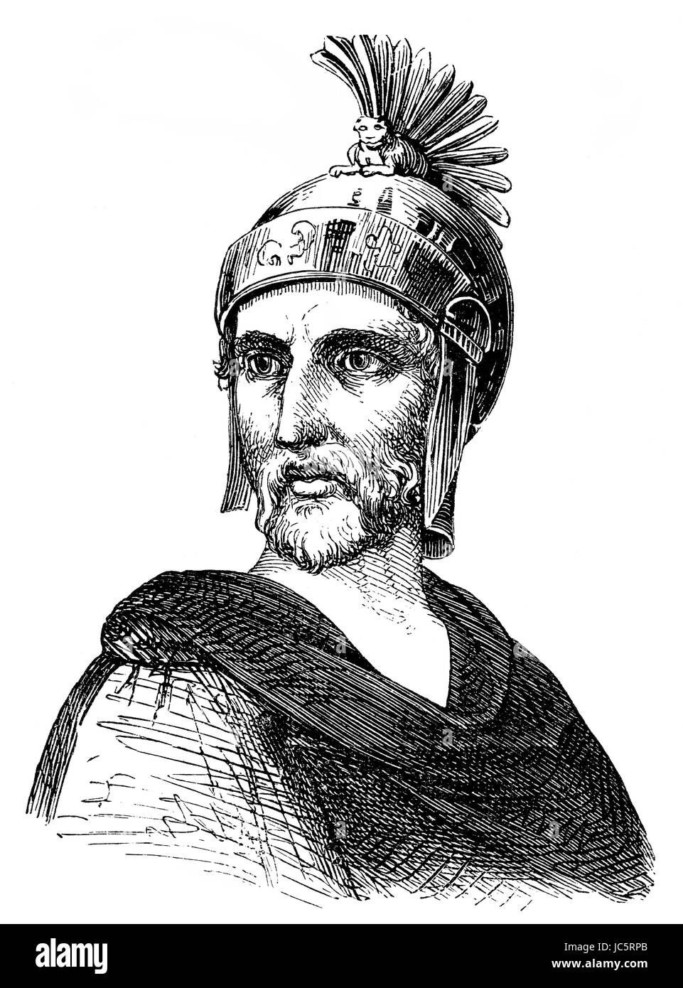 Philopoemen, 253 BC-183 BC,a Greek general and statesman - Stock Image