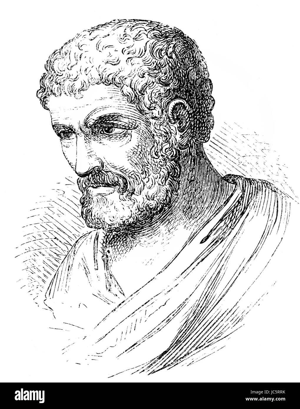 Euclid of Alexandria, an Ancient Greek mathematician - Stock Image