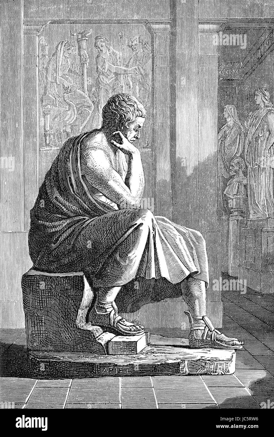 Aristotle, 384-322 BC, an ancient Greek philosopher and scientist - Stock Image