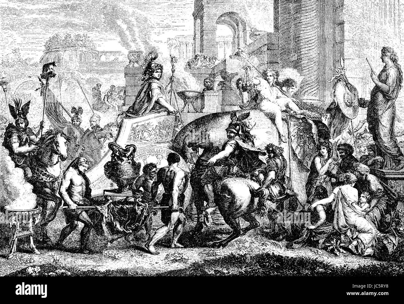 The entry of Alexander the Great into Babylon - Stock Image
