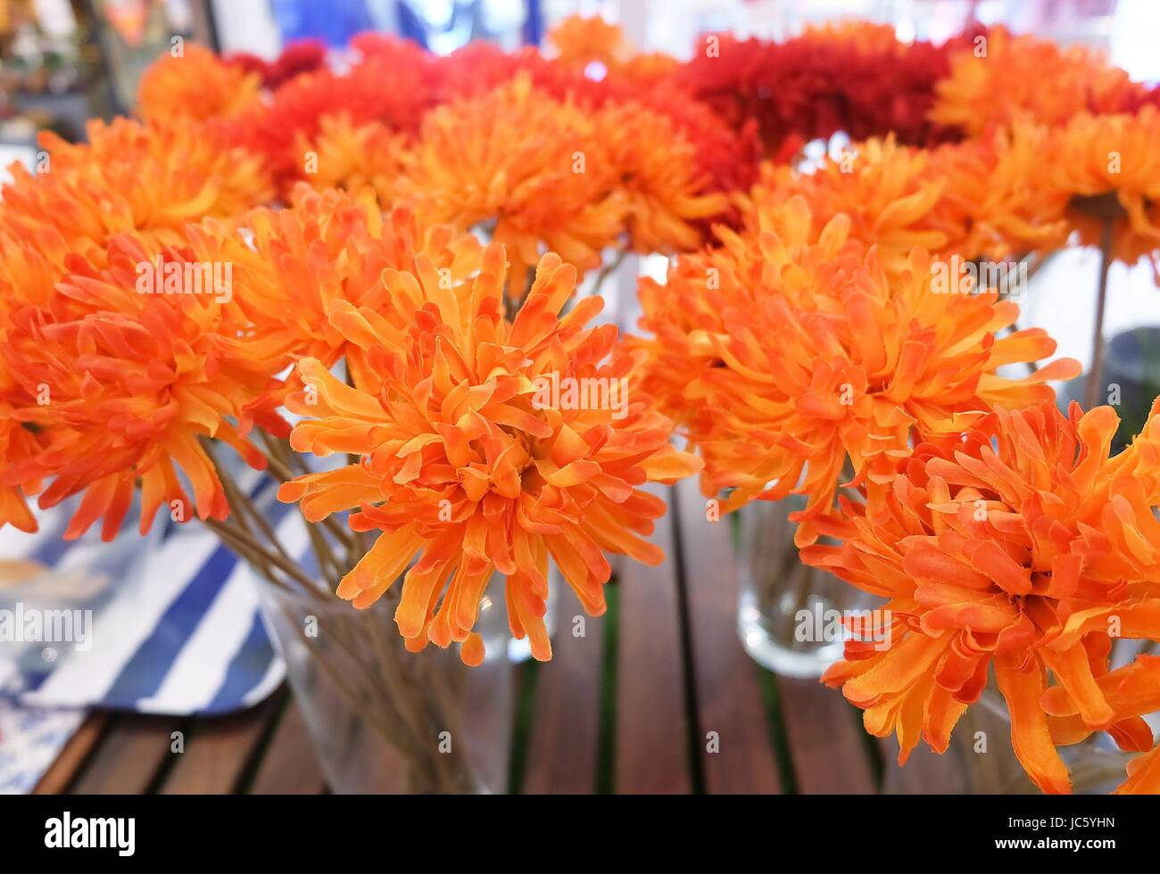 Bright And Beautiful Orange Artificial Daisy Gerbera Flowers In