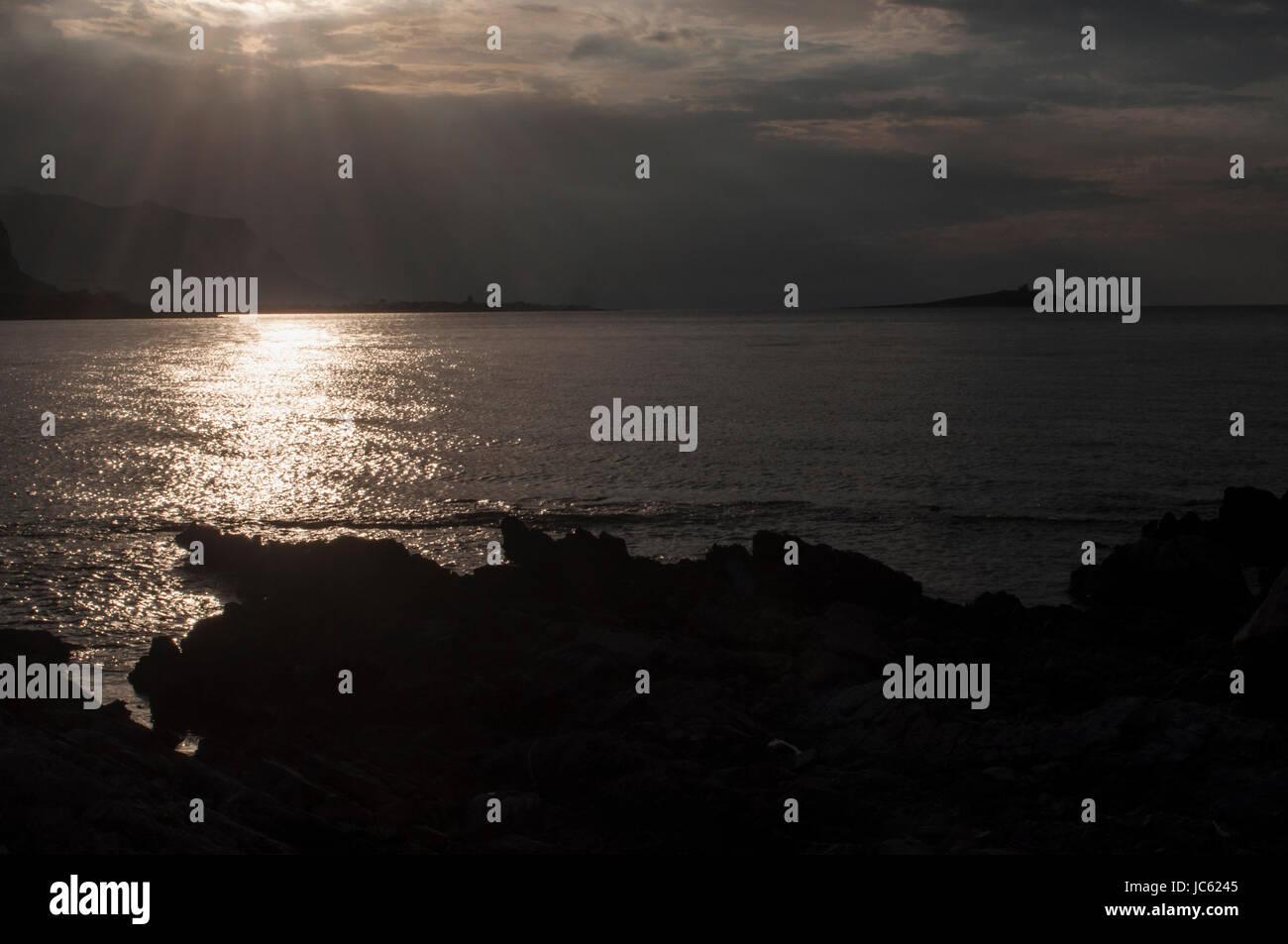 golden sunset - Stock Image