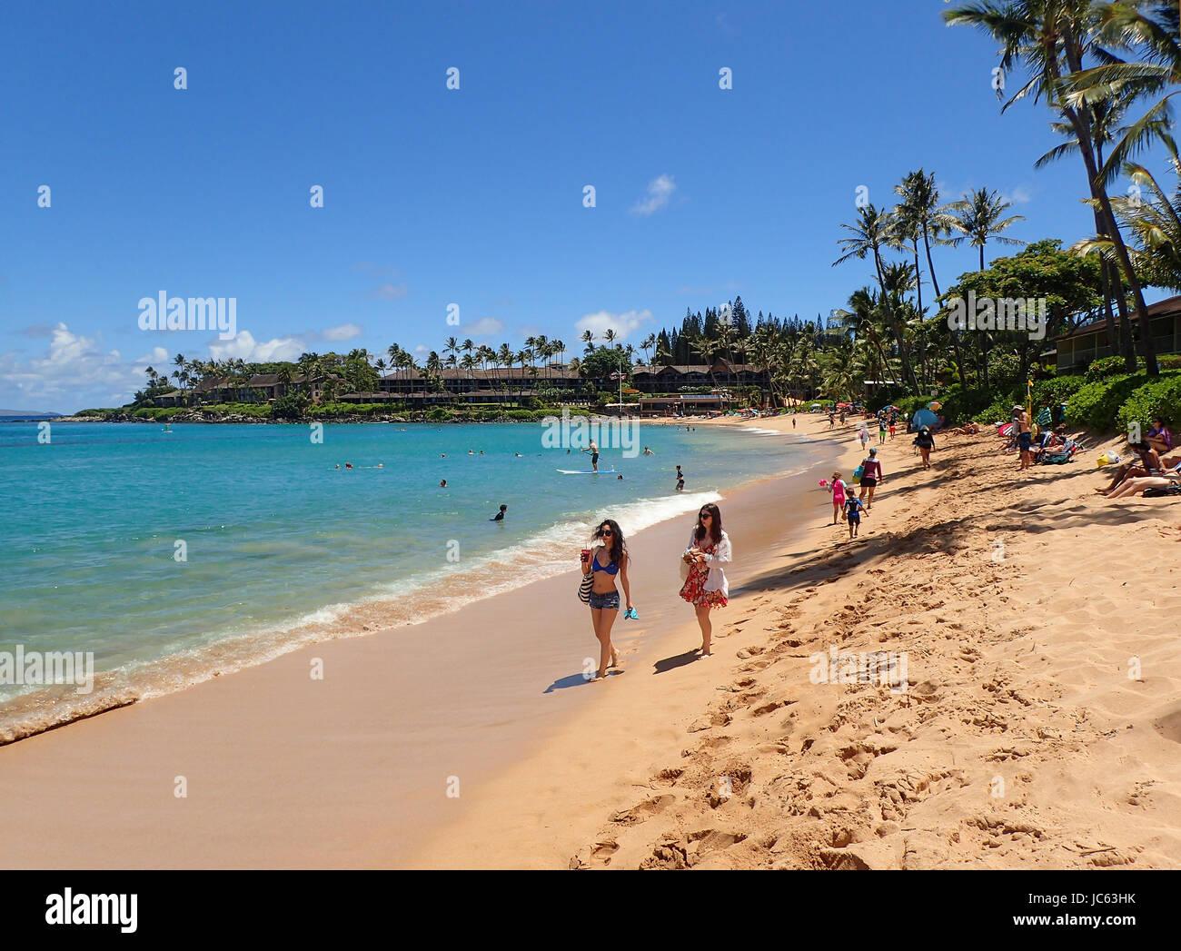 Napili bay beach, Maui, Hawaii. - Stock Image