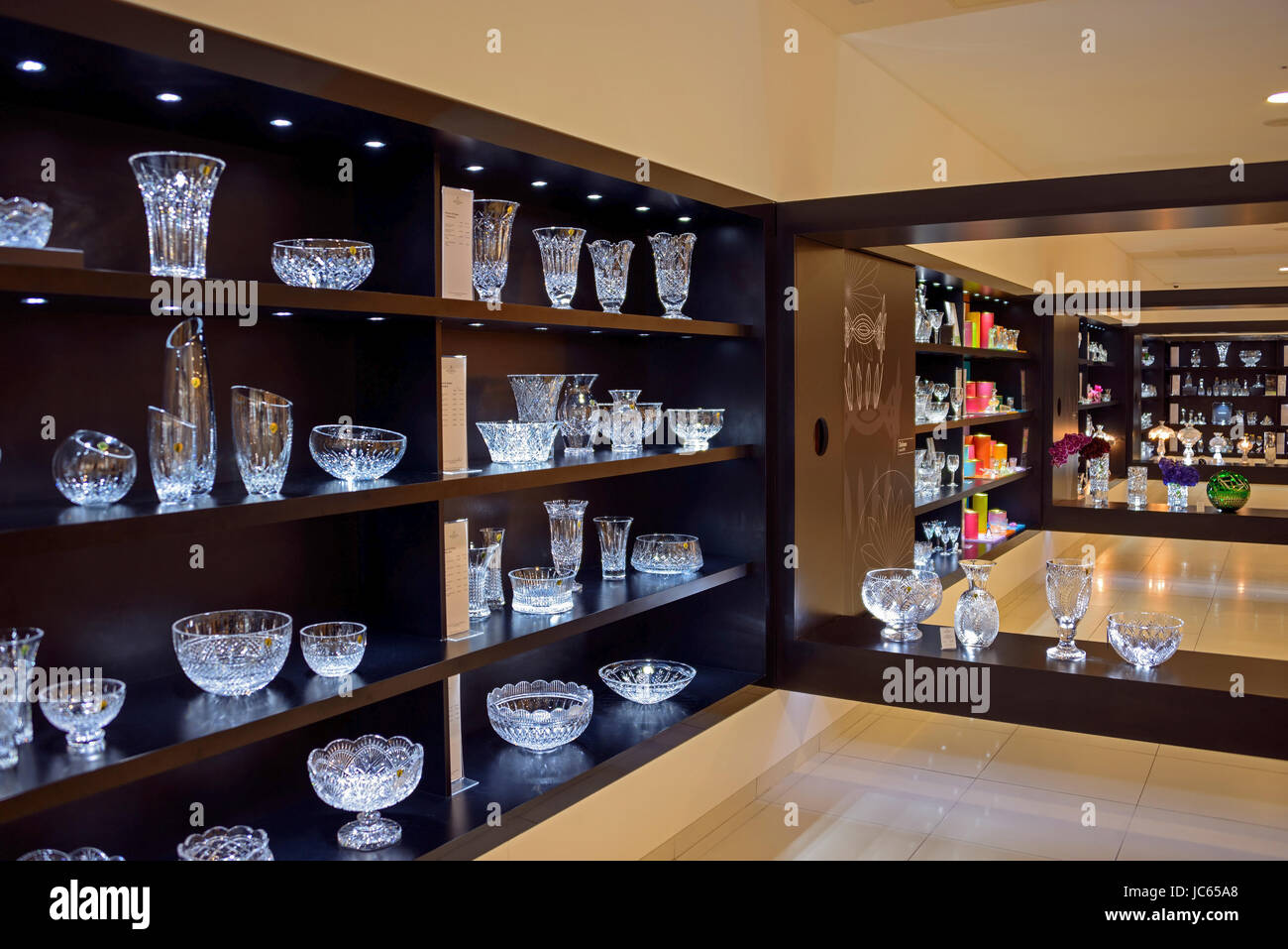 Crystal, house of the Waterford of crystal, Waterford, Ireland, Great Britain , Kristall, Haus des Waterford Kristalls - Stock Image