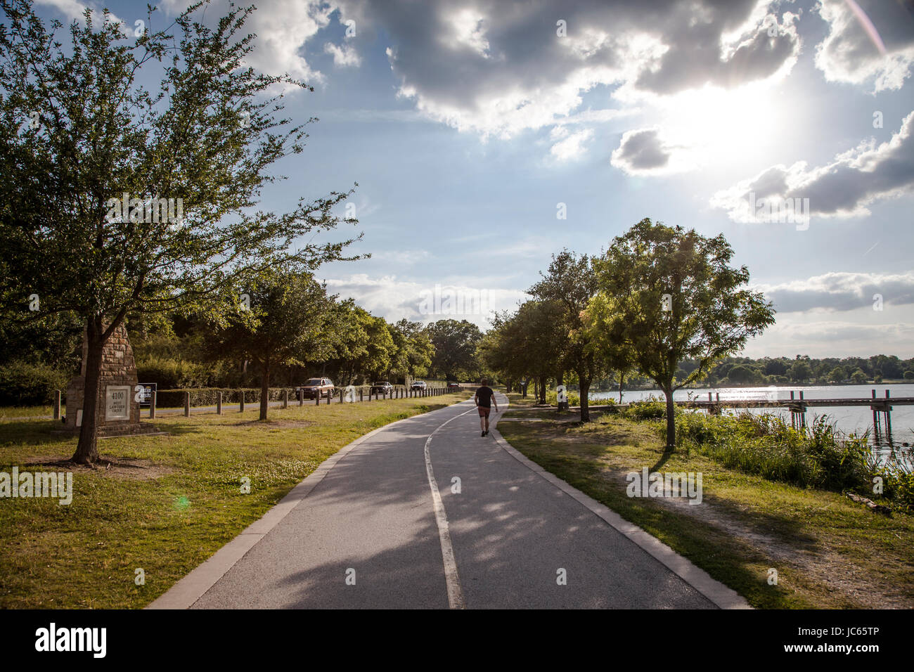 White Rock Lake in Dallas Texas - Stock Image