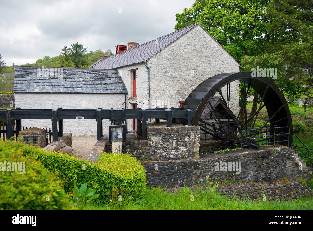 Grain and flax mill, River Swilly, Newmills, county Donegal, Ireland, Great Britain, mill, water mill, Malin start,, - Stock Image