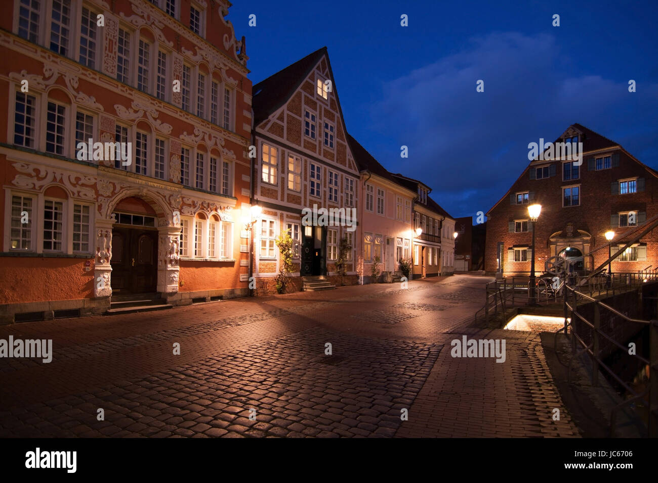 The Hanseatic town Stade is the capital town of the administrative district of the same name in Lower Saxony., Die Stock Photo