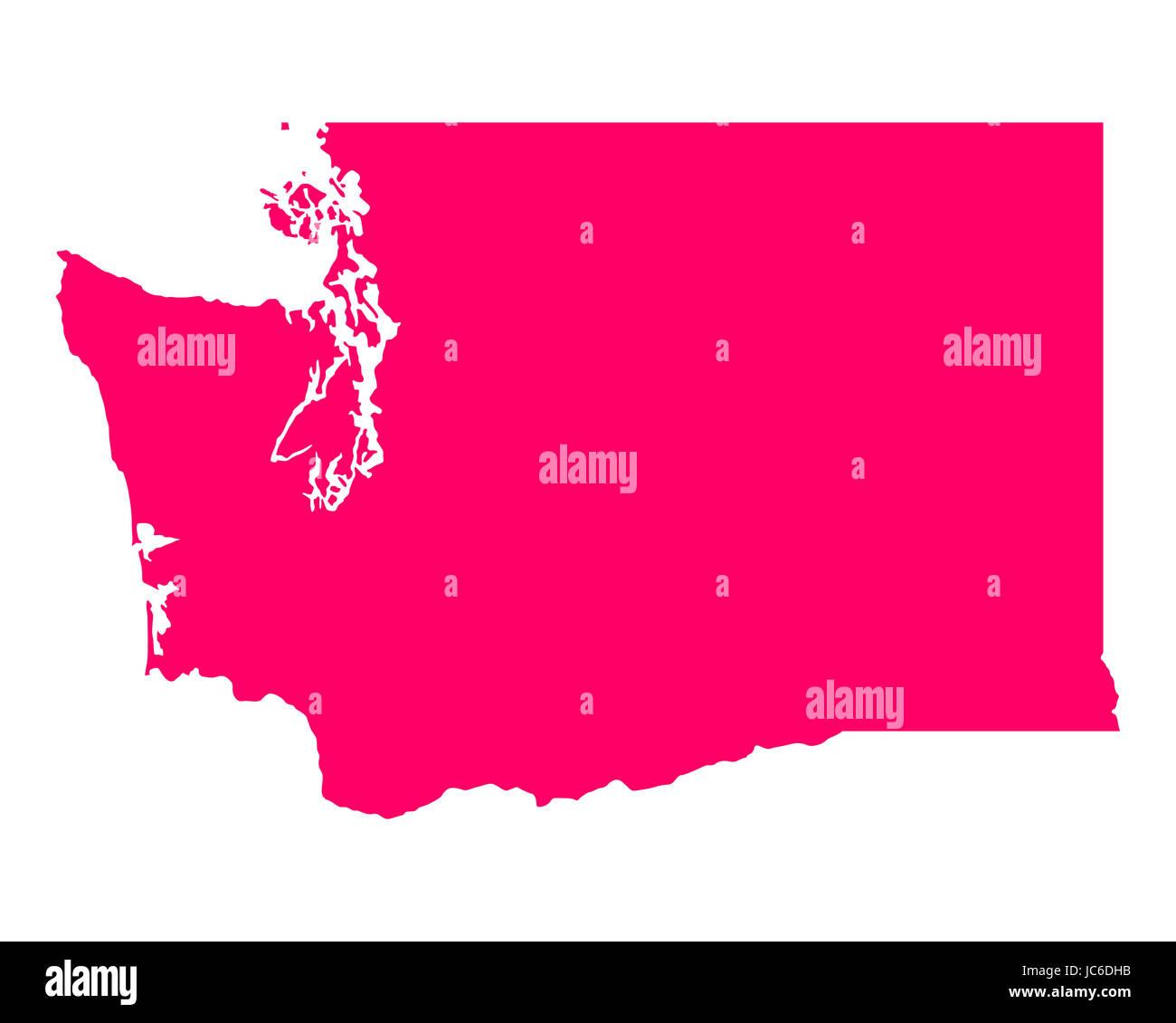 Karte von Washington - Stock Image