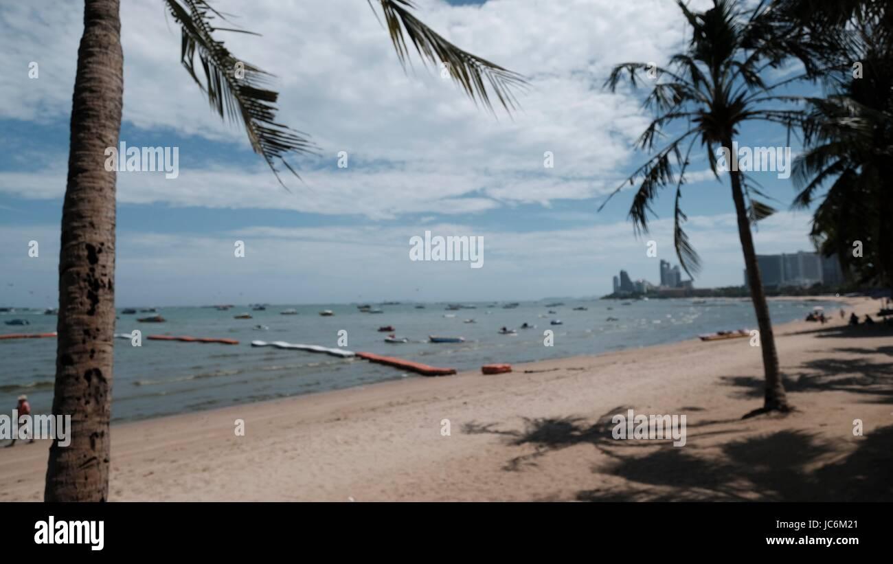 Gulf of Thailand Shoreline Pattaya Chonburi Thailand - Stock Image
