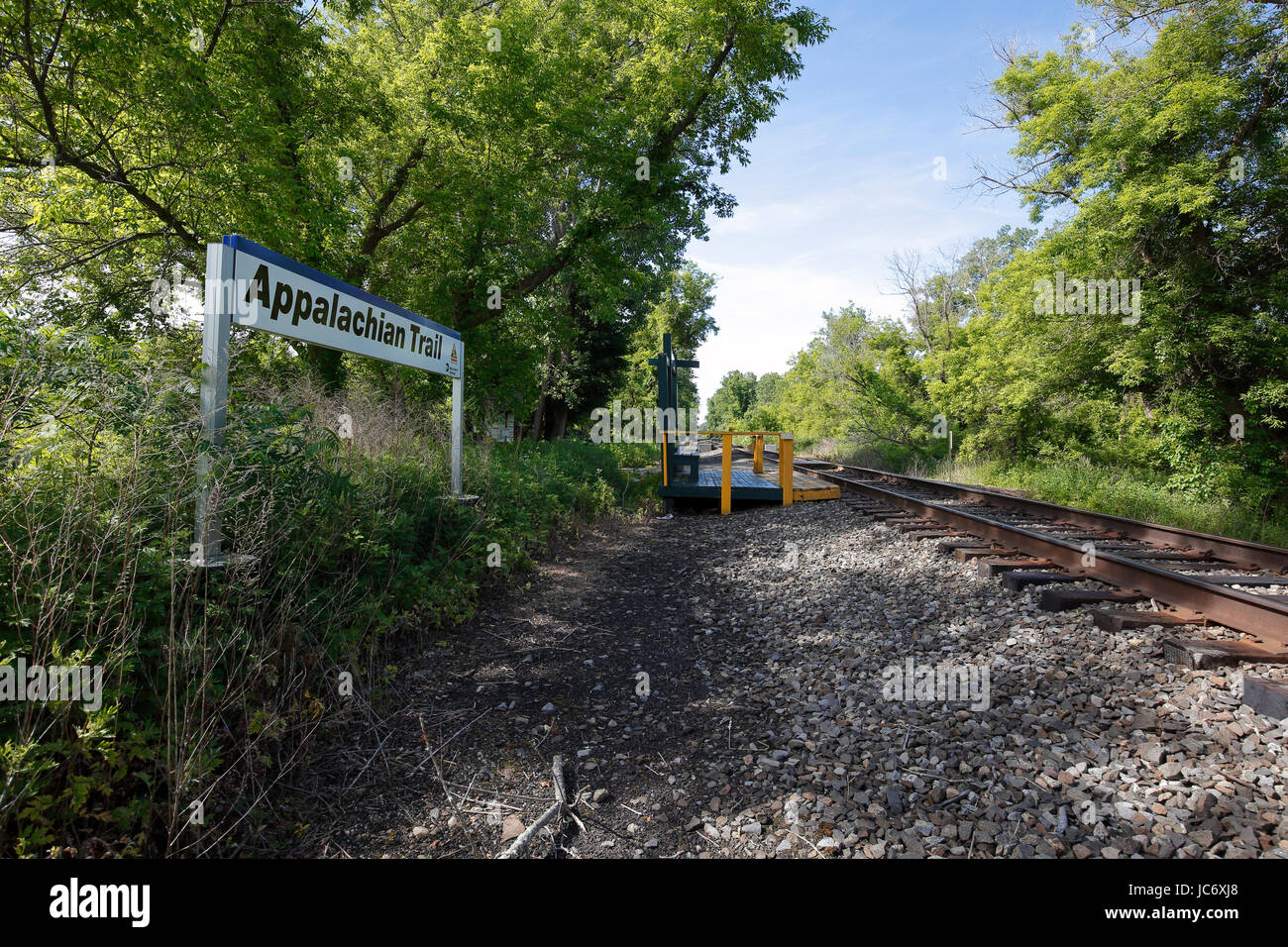 Train Station On The Appalachian Trail In Pawling Ny Stock