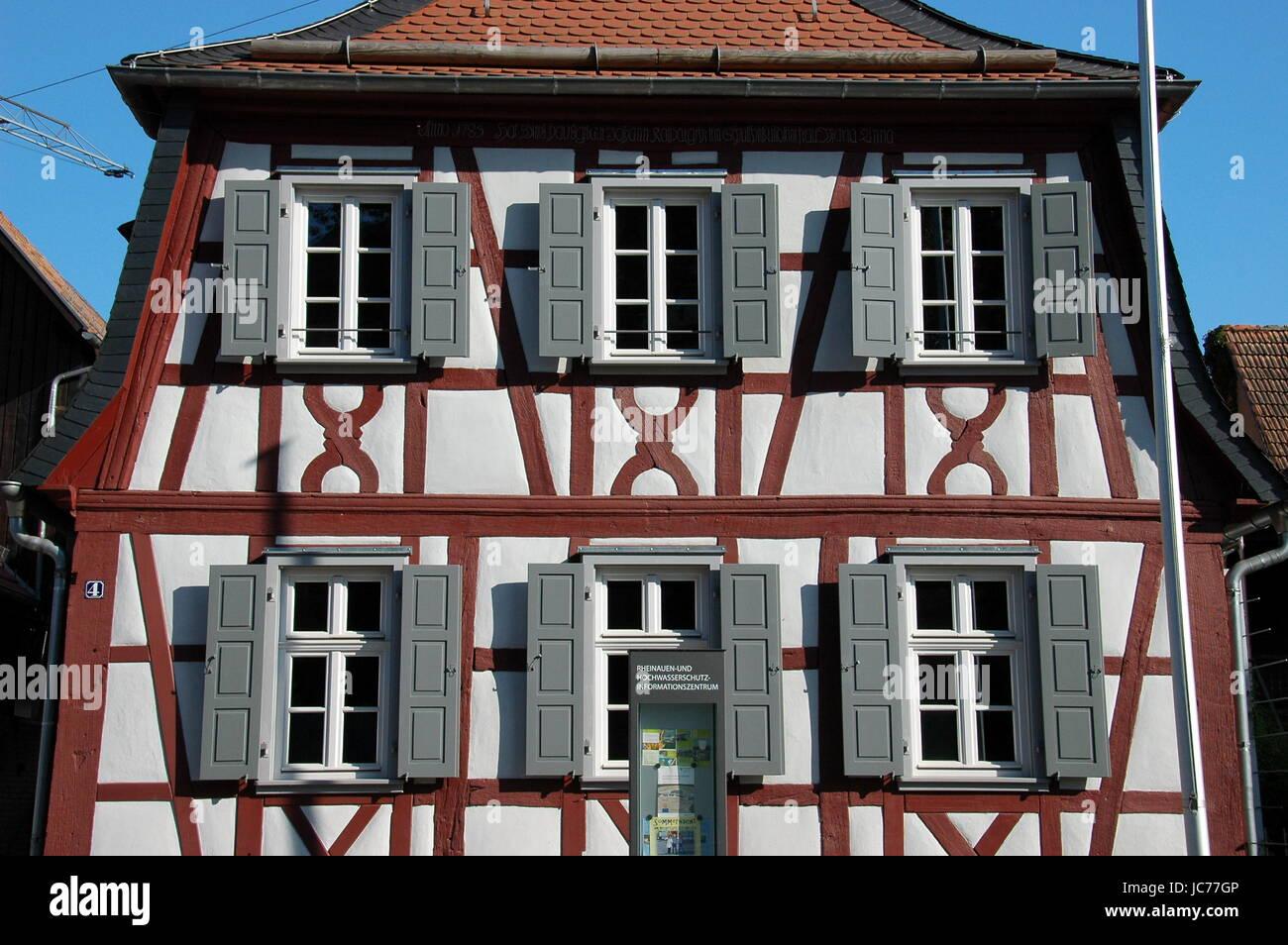 heritage museum haus am strom in neupotz / pfalz Stock Photo