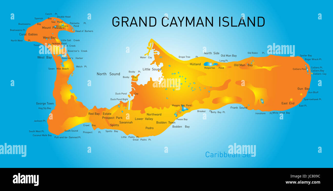 photo regarding Printable Map of Grand Cayman known as Map Of Cayman Islands Inventory Shots Map Of Cayman Islands