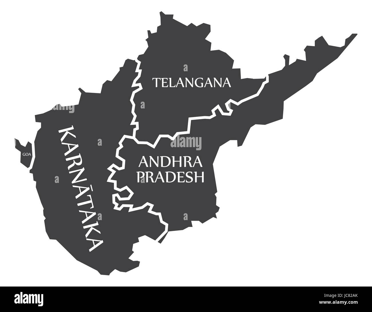 outline telangana andhra pradesh map Andhra Pradesh Map High Resolution Stock Photography And Images outline telangana andhra pradesh map