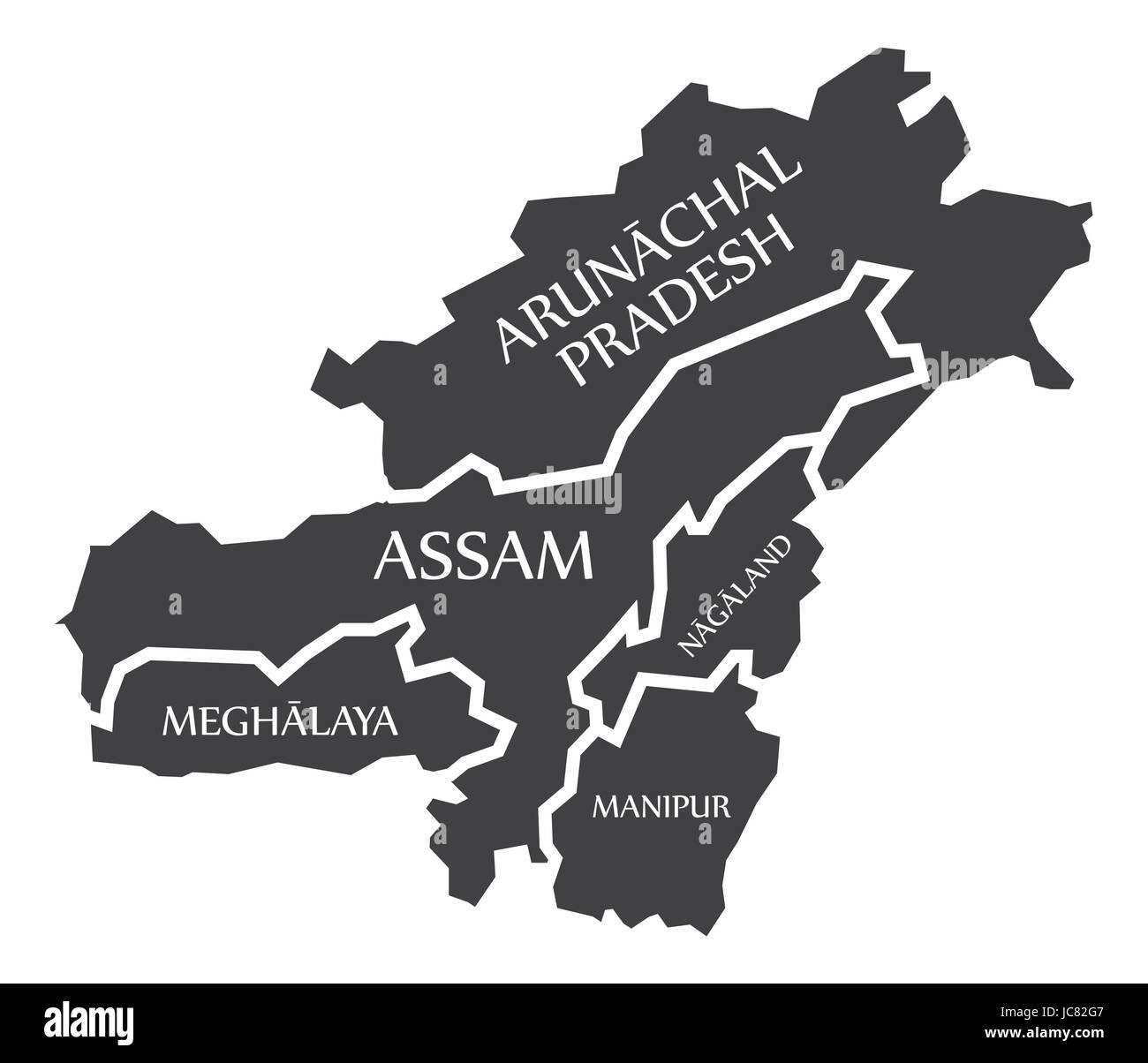 Assam Map Stock Photos & Assam Map Stock Images - Alamy