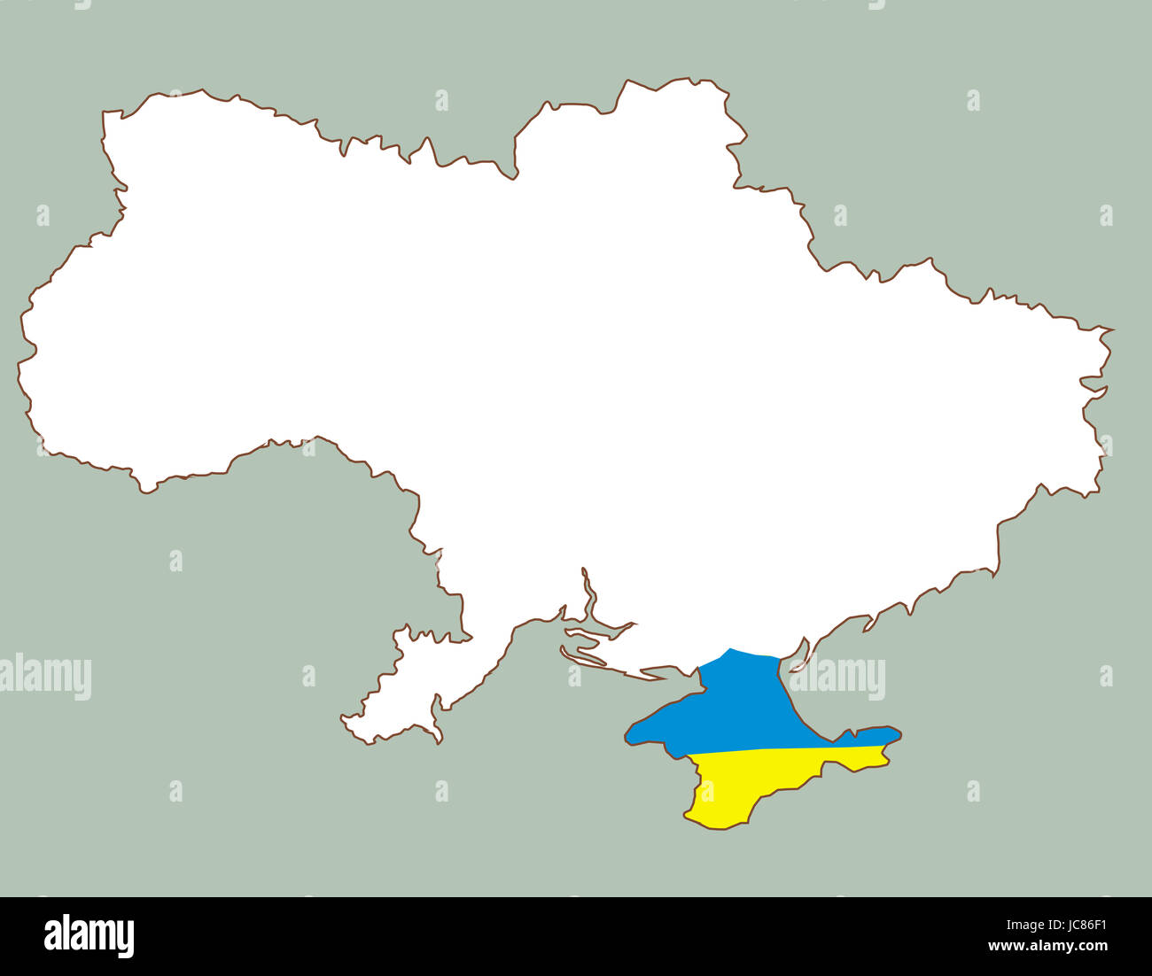 Crimea Map Vector Stock Photos Crimea Map Vector Stock Images Alamy