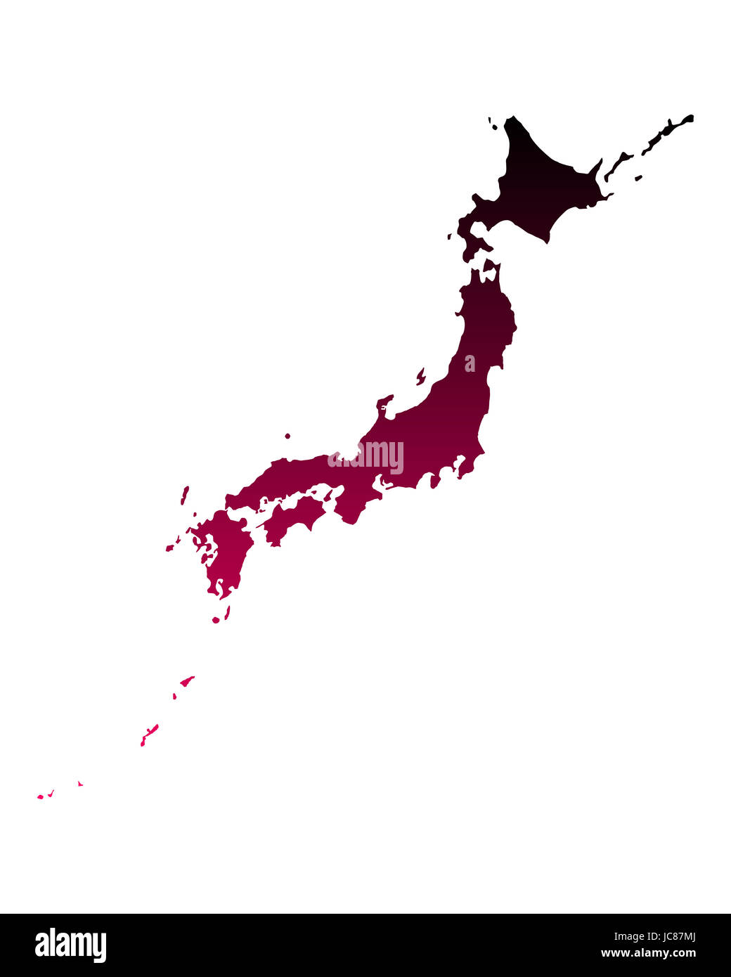 Karte von Japan - Stock Image