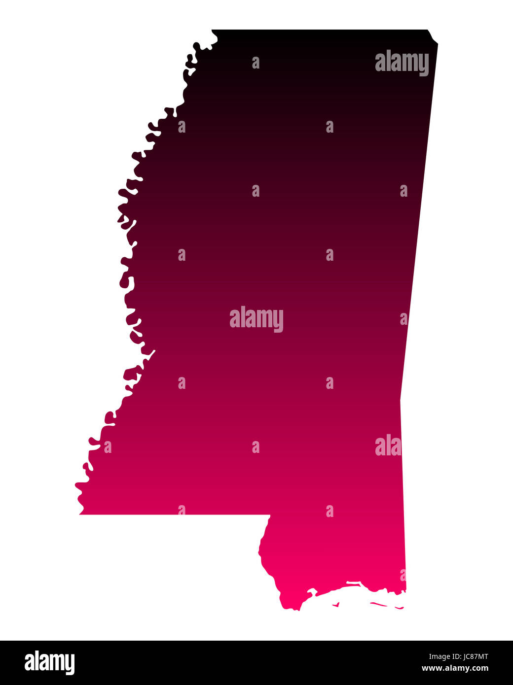 Karte von Mississippi - Stock Image