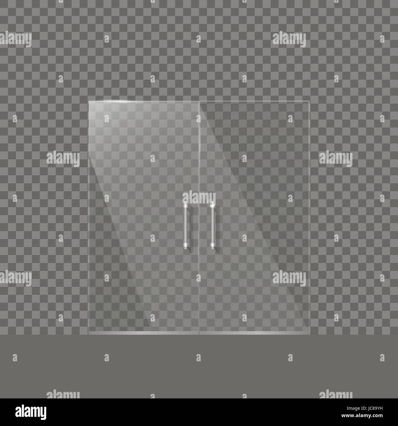 Transparent Glass Door   Stock Vector