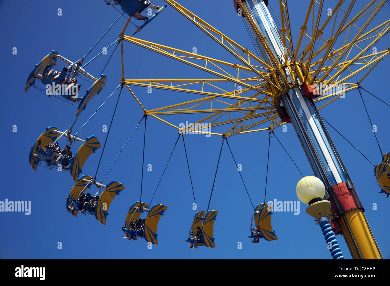 One of the carnival themed rides at Ocean Park Hong Kong. - Stock Image