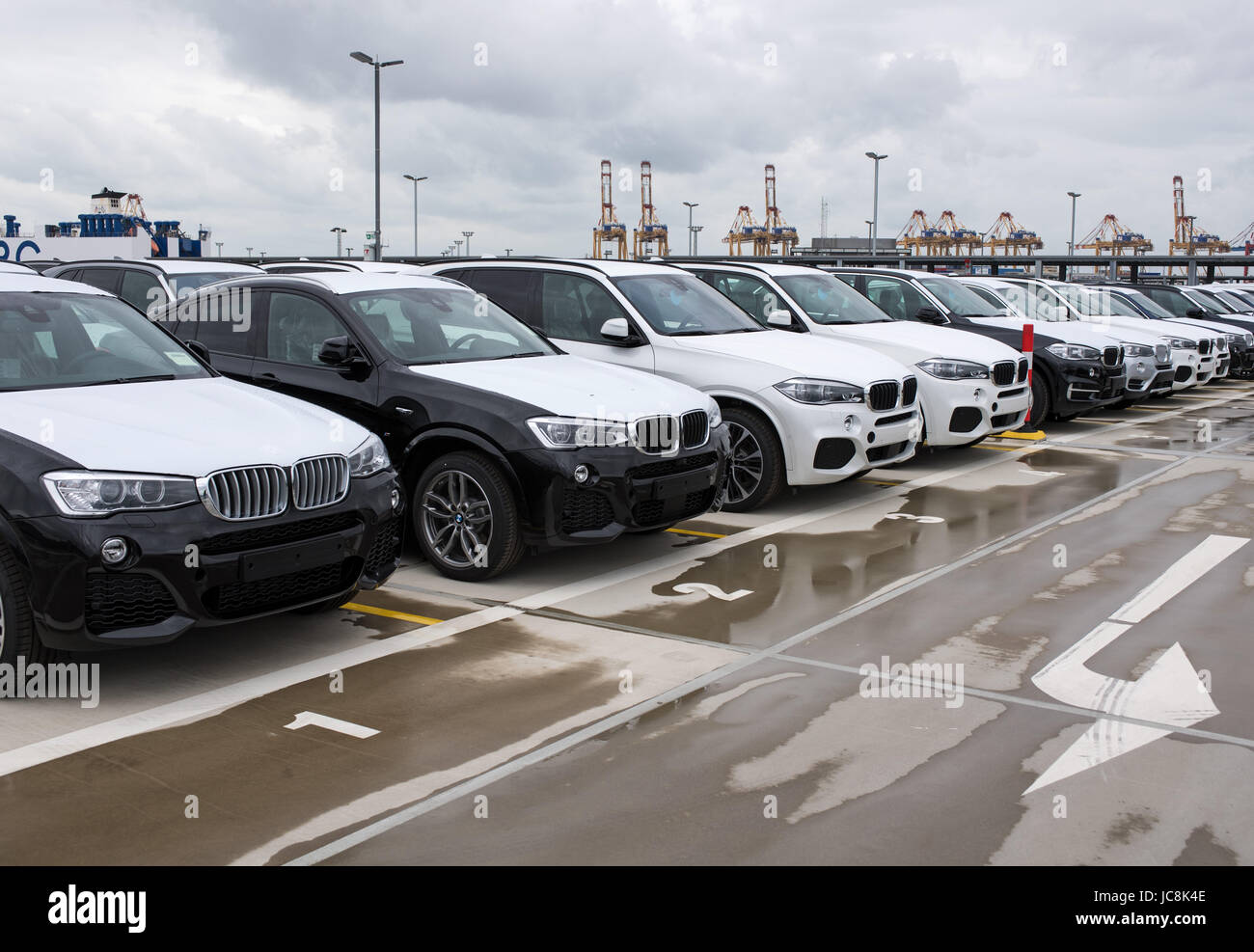 New Vehicles 2017 >> Bremerhaven Germany 12th June 2017 New Vehicles Of Bmw